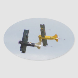 Le Fokker D.VII modèle en vol Sticker Ovale