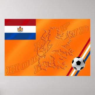 Le football 2014 néerlandais de drapeau de la Holl Poster