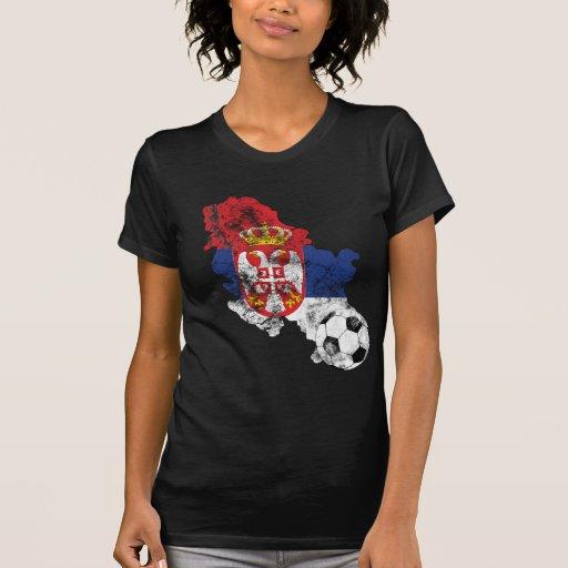 Le football affligé de la Serbie T-shirt