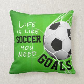 Le football aiment la vie, vous a besoin de buts coussin