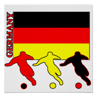 Le football Allemagne Poster