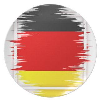 Le football allemand de drapeau assiettes en mélamine