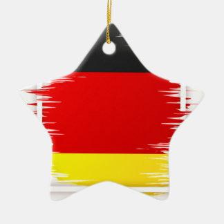 Le football allemand de drapeau ornement étoile en céramique