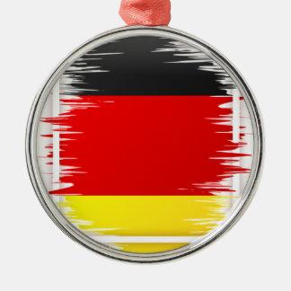 Le football allemand de drapeau ornement rond argenté