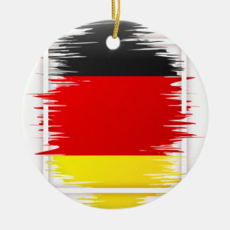 Le football allemand de drapeau ornement rond en céramique