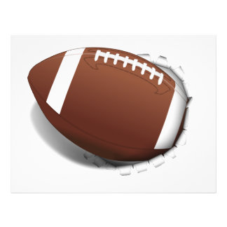 Le football arrachant prospectus 21,6 cm x 24,94 cm