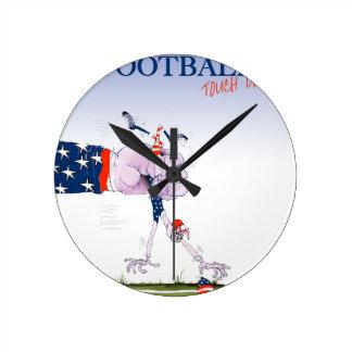 Le football atterrissent, les fernandes élégants horloge ronde