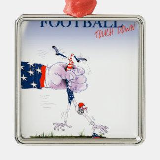 Le football atterrissent, les fernandes élégants ornement carré argenté
