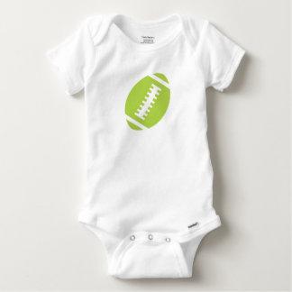 Le football avant de vert de chaux du blanc | de t-shirts