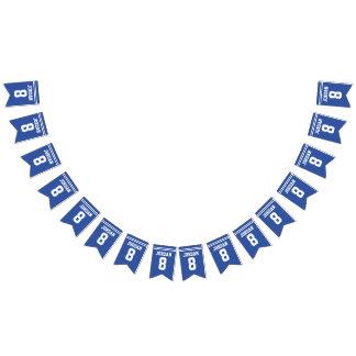 Le football bleu Jersey - fête d'anniversaire de Bannière À Fanions