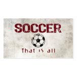 Le football, celui est tout cartes de visite professionnelles