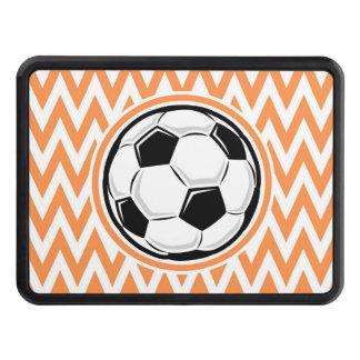 Le football Chevron orange et blanc Couverture Remorque D'attelage