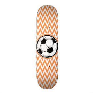 Le football Chevron orange et blanc Planches À Roulettes Customisées