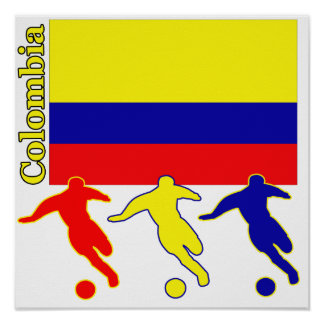 Le football Colombie Affiches