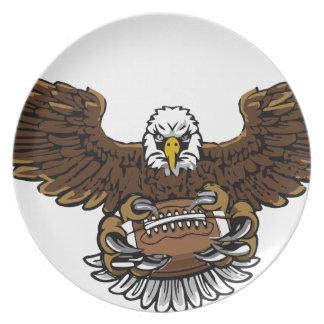 le football d'aigle assiettes en mélamine
