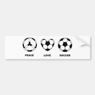 Le football d'amour de paix autocollant pour voiture
