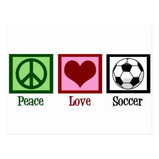 Le football d'amour de paix cartes postales