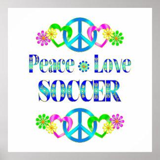 Le football d'amour de paix affiche