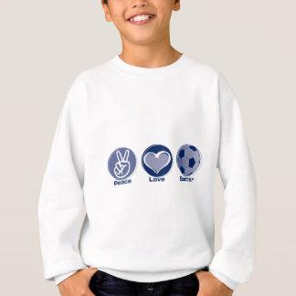 Le football d'amour de paix sweatshirt