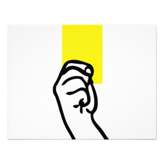 Le football de carte jaune bristol personnalisé
