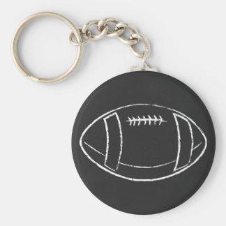 le football de craie porte-clé rond