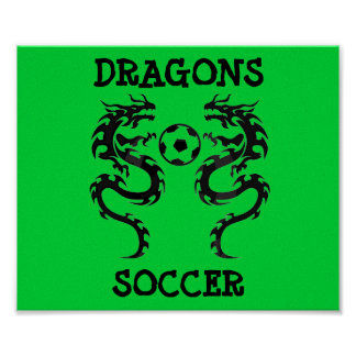 le football de dragon, DRAGONS, le FOOTBALL - cust Poster