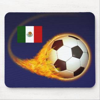 Le football de flambage du Mexique Tapis De Souris