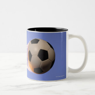 Le football de flamme tasse 2 couleurs