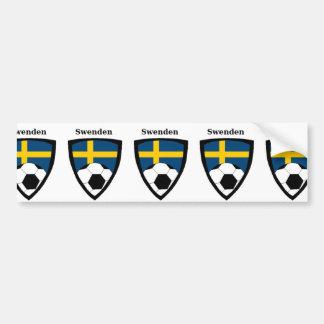 Le football de la Suède Autocollant Pour Voiture
