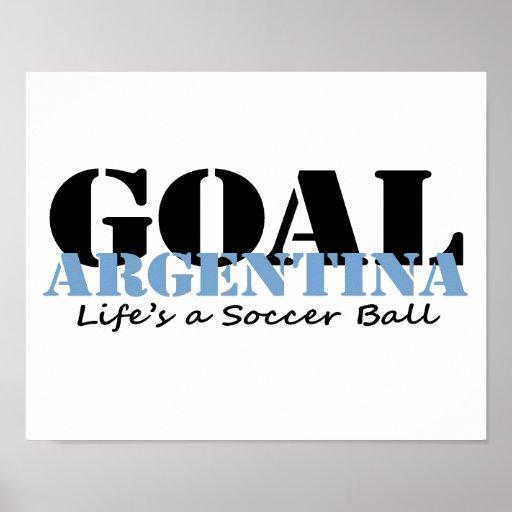 Le football de l'Argentine Posters