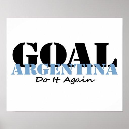 Le football de l'Argentine Poster
