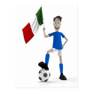 Le football de l'Italie Carte Postale