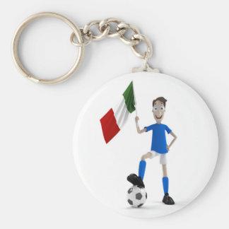 Le football de l'Italie Porte-clé Rond
