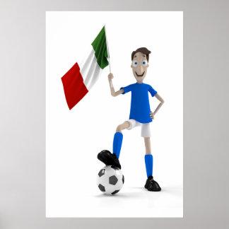 Le football de l'Italie Affiche