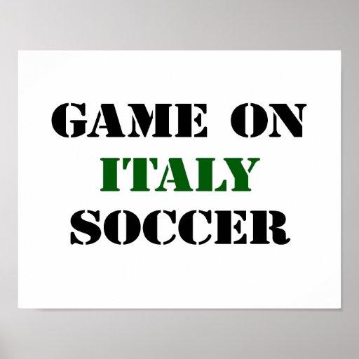 Le football de l'Italie Affiches