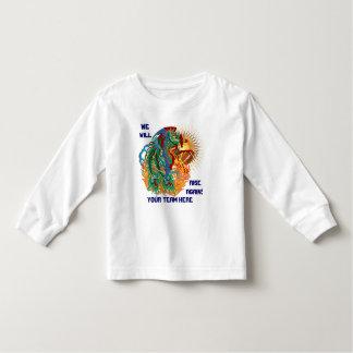 Le football de logo pensent qu'il est de regarder t-shirts