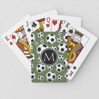 Le football de monogramme - dessus d'arbre jeux de cartes