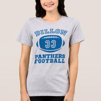 Le football de panthères de Dillon de T-shirt de