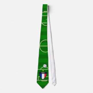 Le football de terrain de football de la France Cravates Personnalisées