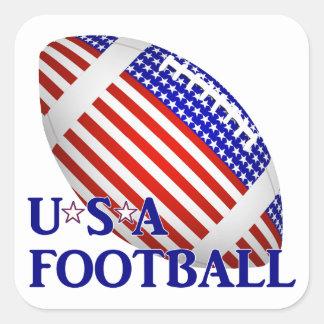 Le football des Etats-Unis (1) avec le texte Sticker Carré