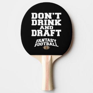 Le football d'imaginaire ne boivent pas et ne raquette tennis de table