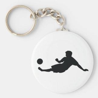 Le football du football porte-clé rond