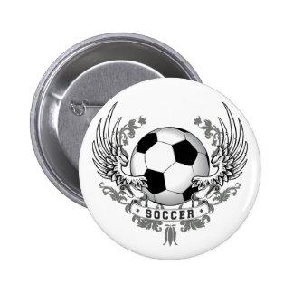 Le football du football s'envole le bouton badge
