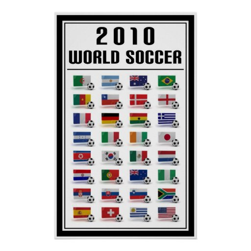 Le football du monde posters