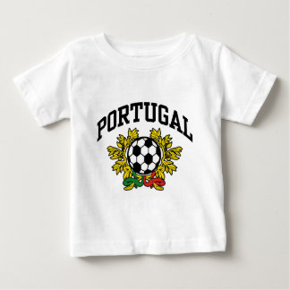 Le football du Portugal T-shirt Pour Bébé