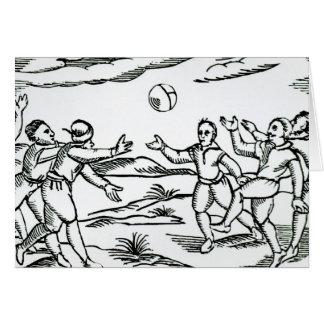 Le football élisabéthain carte de vœux