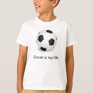 Le football est mon T-shirt de la vie