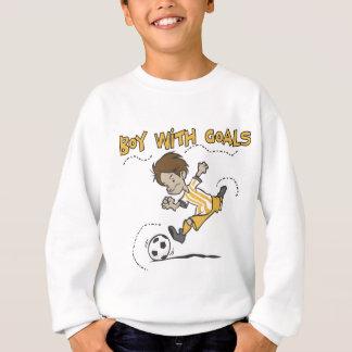 Le football - garçon avec des T-shirts et des
