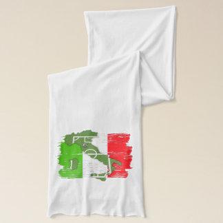 Le football Italie - écharpe du football de patrie