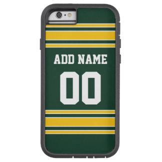 Le football Jersey avec le nombre nommé fait sur Coque iPhone 6 Tough Xtreme